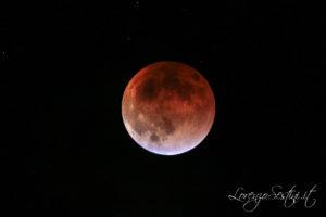 Eclissi di Luna 2015 da Rigomagno con canon 60d e telescopio 80 ed