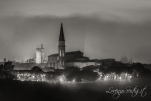 Duomo di Arezzo nebbia