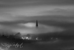 Cattedrale Arezzo nebbia