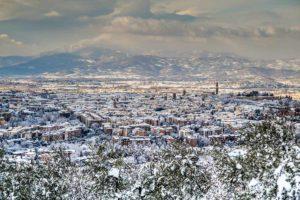 Arezzo innevata