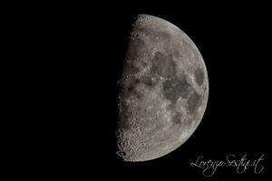luna con Canon 60d  telescopio 80ed scatto