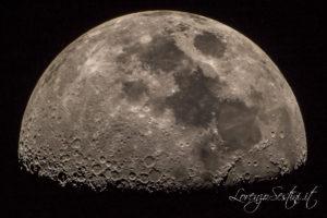 Luna del con Telescopio 80ed canon 60d con barlow 2x