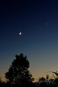 Congiunzione Venere Luna Giove 21-06-2015