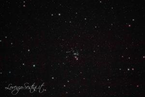 Ammasso aperto m93 canon 1100d full spectrum con filtro l-pro heq5 Newton 150-750 Sky Watcher guida atik titan mono.