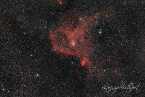 IC 1805 Nebulosa Cuore con Canon 1100d Full spectrum e filtro cls eos clip. Obiettivo 70-200 f2.8