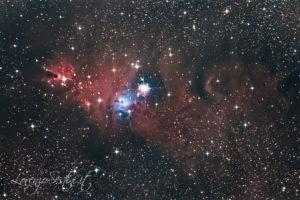 Nebulosa cono ngc2264 newton 150-750 canon 1100d full uhc heqc titan mono 17x600