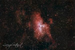 Nebulosa M16 nina newton 150-750 canon 1100d full spectrum filtro uhc