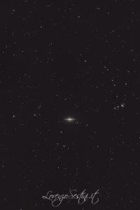 Galassia M104 Sombrero nella Vergine. Newton 150-750 Canon 1100d l.pro Heq5