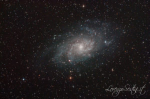 Galassia M33 Canon 1100d Full spectrum L-pro filter heq5 pro