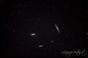 Galassie M65 M66 NGC3628 Tripletto del Leone con canon 1000d non modificata.