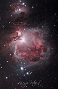 Nebulosa m42 canon 1100d full spectrum filtro uhc  newton 150-750