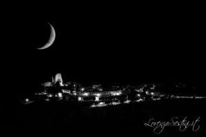 Luna Civitella in val di Chiana al tramonto