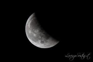 Eclissi di Luna 2018 fase parziale