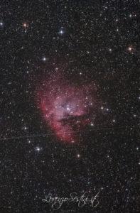 NGC 281 nebulosa Pacman Canon 1100 full spectrum lpro nina observatory. Newton 150-750