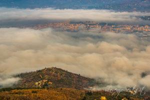 Arezzo fotografato dalla vetta di Lignano.