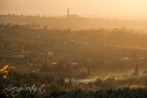 Arezzo con le luci del tramonto.