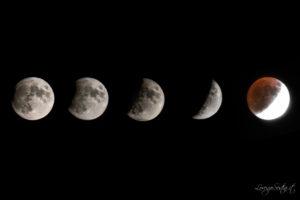 Eclissi di Luna 16 Luglio parziale 65%