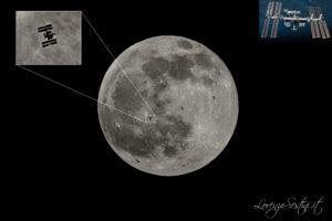 Iss passaggio sulla Luna